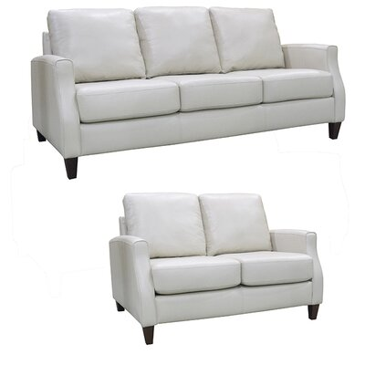 Springfield Top Grain Leather Sofa and Loveseat Set