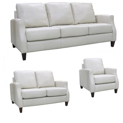 Springfield Top Grain Leather Sofa, Loveseat and Chair Set