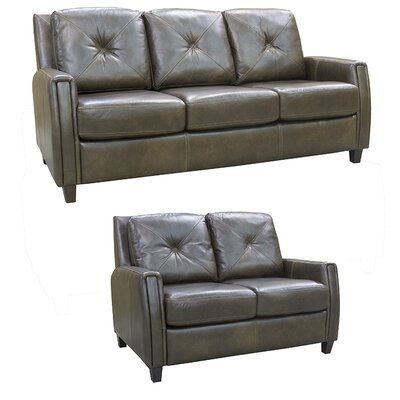 Topeka Leather 2 Piece Living Room Set