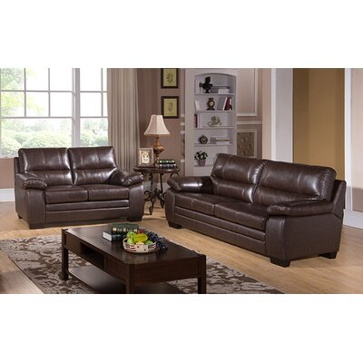 Hutchings 2 Piece Leather Living Room Set