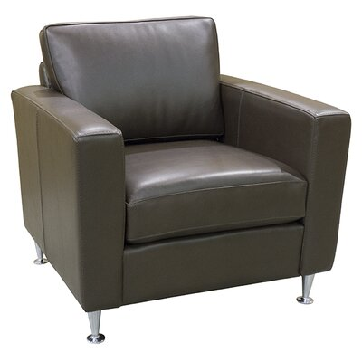 Erika Club Chair Upholstery: COR 1812 Distressed Brown