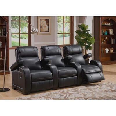 Leeds Home Theater 3 Row Recliner