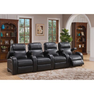 Leeds Home Theater 4 Row Recliner