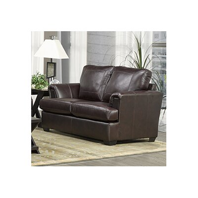 Royal Cranberry Italian Leather Loveseat
