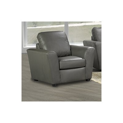 Delta Italian Leather Club Chair Finish: Grey
