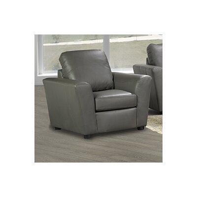Delta Italian Leather Club Chair Finish: Grey