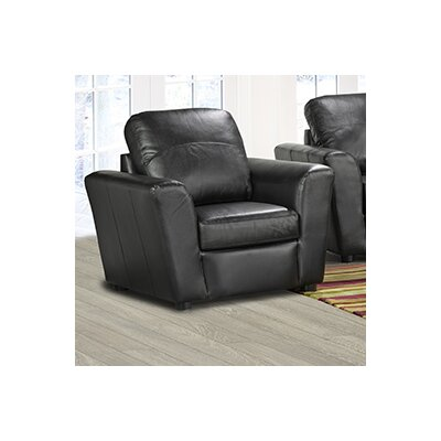 Delta Italian Leather Club Chair Finish: Black
