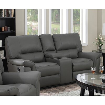 Harris Reclining Sofa Upholstery: Gray