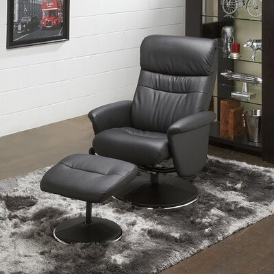Perry Recliner and Ottoman Upholstery: Black