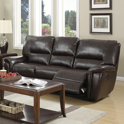 Indianola Motion Reclining Sofa Upholstery: Red Brown