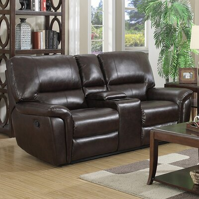 Harris Reclining Sofa Upholstery: Red Brown