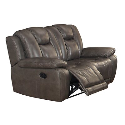 Fleetwood Leather Reclining Loveseat