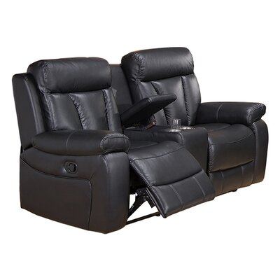 Coja Plymouth-L Plymouth Leather Reclining Loveseat