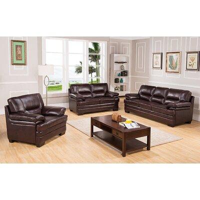 Hutcherson Leather Configurable Living Room Set