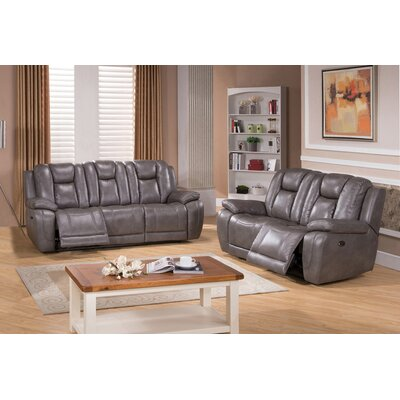 Red Barrel Studio RDBT4507 Fae Power 2 Piece Leather Living Room Set