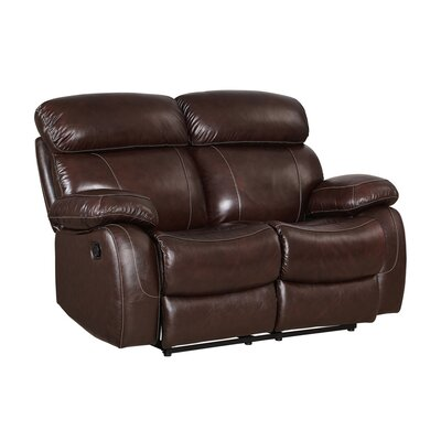 Novoa Leather Reclining Loveseat