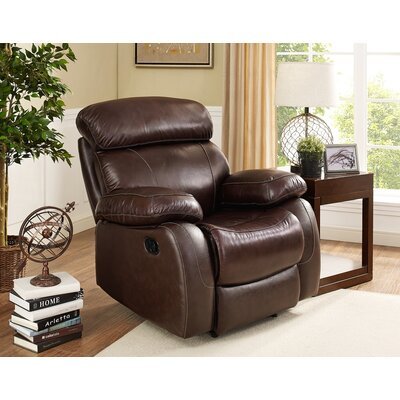 Novoa Leather Recliner Motion Type: Glider