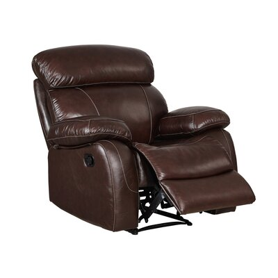 Shum Leather Power Recliner Glider: No