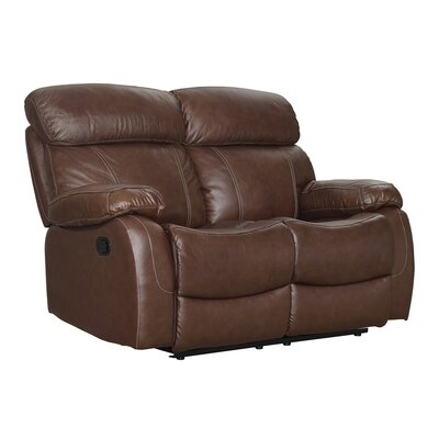 Lahti Leather Reclining Loveseat