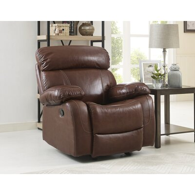 Heyman Leather Power Recliner Motion Type: No Motion