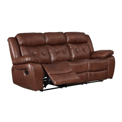 Casto Leather Reclining Sofa