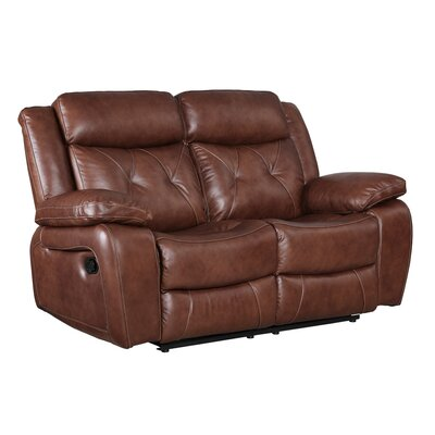 Gohoho Leather Power Reclining Loveseat