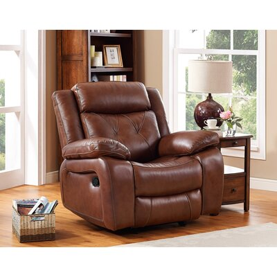 Casto Leather Recliner Glider: Yes