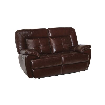 Duffett Leather Reclining Loveseat