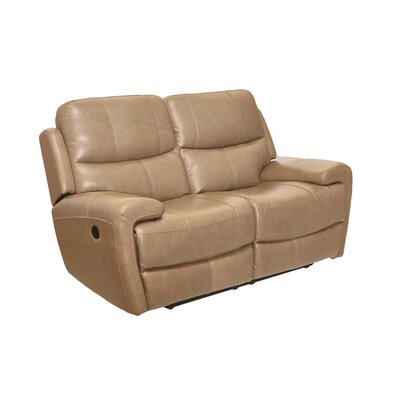 Defazio Leather Power Reclining Loveseat