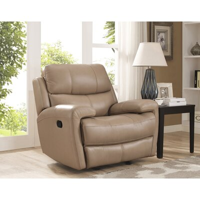 Gasser Leather Glider Recliner