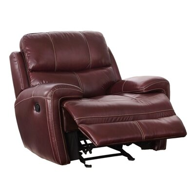 Simeone Leather Glider Recliner