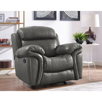 Glausen Leather Power Glider Recliner