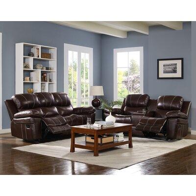 Reinheimer Leather Reclining Sofa