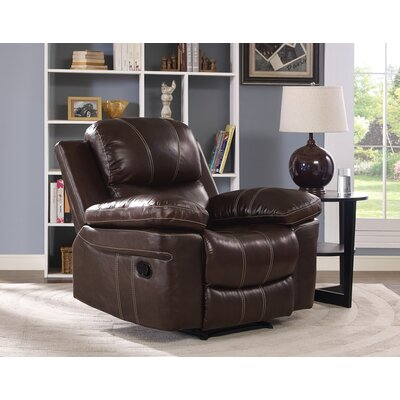 Reinheimer Leather Recliner Motion Type: No Motion