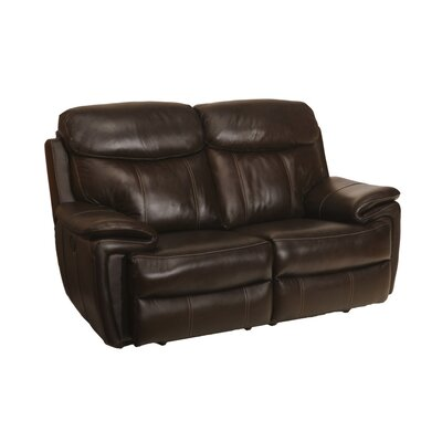 Goeltz Leather Power Reclining Loveseat