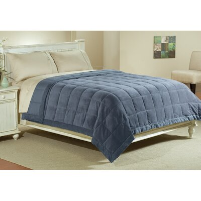 Reversible Throw Blanket Size: Twin, Color: Blue