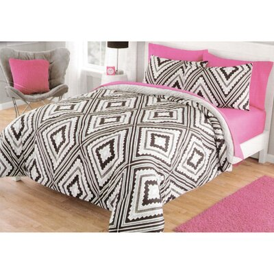 Korey Reversible Comforter Set Size: Queen