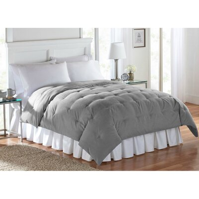 Barron Super Soft Luxe Comforter Size: Twin, Color: Gray