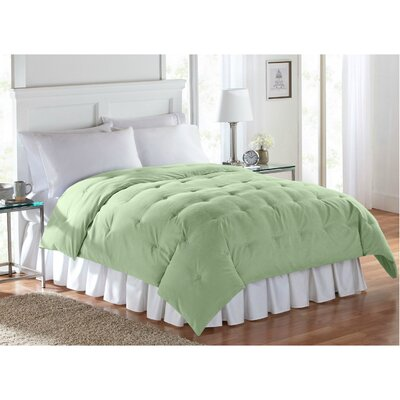 Barron Super Soft Luxe Comforter Size: Full/Queen, Color: Green