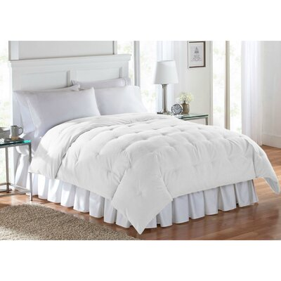 Barron Super Soft Luxe Comforter Size: Twin, Color: White