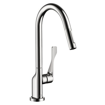 Axor Citterio Pull Down Single Handle Kitchen Faucet Finish: Chrome