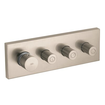 Thermostatic 3 Volume Controls Shower System Trim Finish: Brushed Nickel