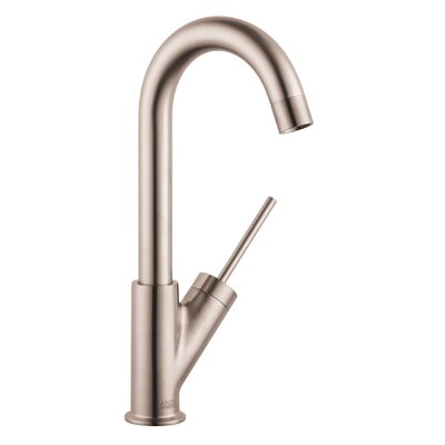 Axor Starck Single Handle Deck Mounted Bar Kitchen Faucet Finish: Steel Optik