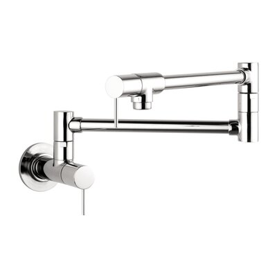 Axor Starck Double Handle Wall Mounted Pot Filler Faucet Finish: Chrome