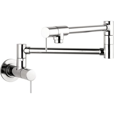 Axor Starck Double Handle Wall Mounted Pot Filler Faucet Finish: Steel Optik