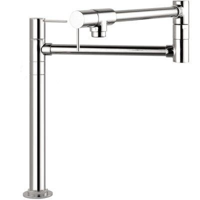 Axor Starck Double Handle Deck Mounted Pot Filler Faucet Finish: Steel Optik