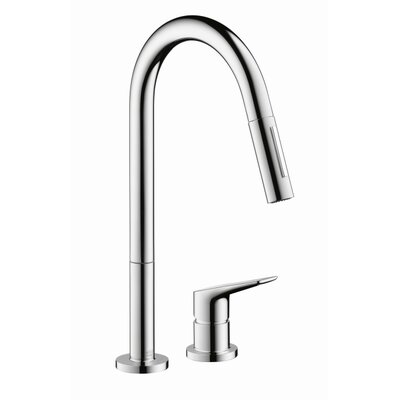 Axor Citterio M Single Handle Deck Mounted Kitchen Faucet Finish: Chrome