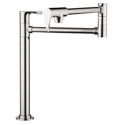 Axor Citterio Double Handle Deck Mounted Pot Filler Faucet Finish: Chrome