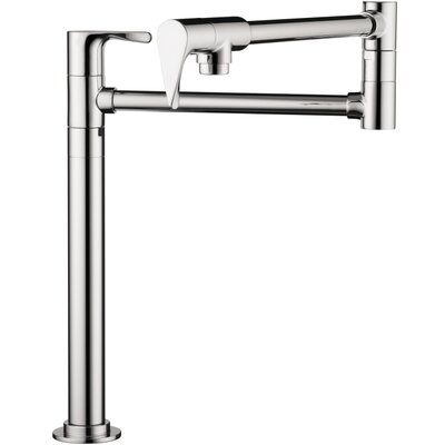 Axor Citterio Double Handle Deck Mounted Pot Filler Faucet Finish: Steel Optik