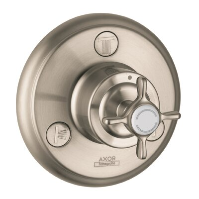 Axor Montreaux Quattro/Trio Shower Faucet Diverter Finish: Brushed Nickel